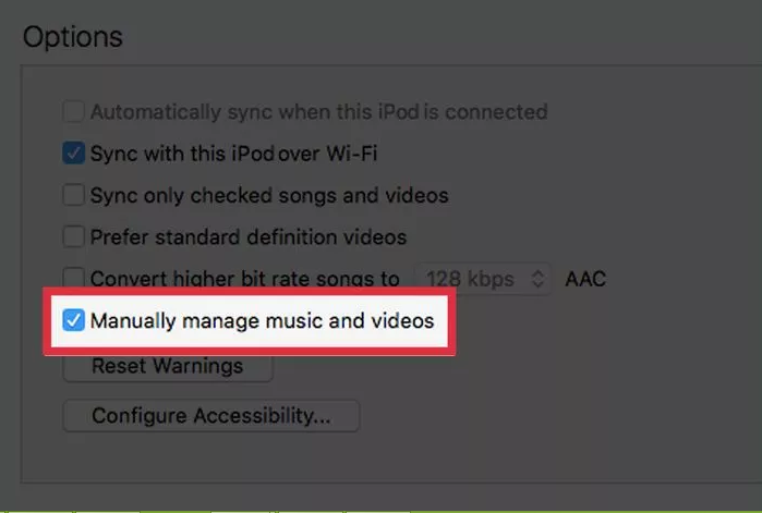 """""""Manually manage music and videos."""""""