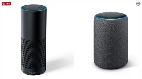 Amazon Echo 2 vs Echo Plus Design