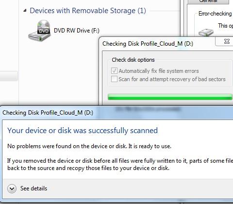 check disk profile