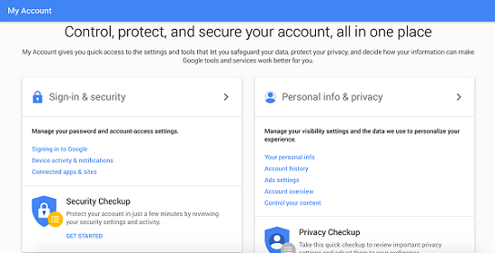 Gmail Sign-in and Security