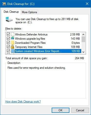 Disk Cleanup System File Remove