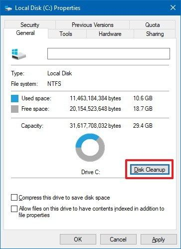 Disk Cleanup for Windows 10