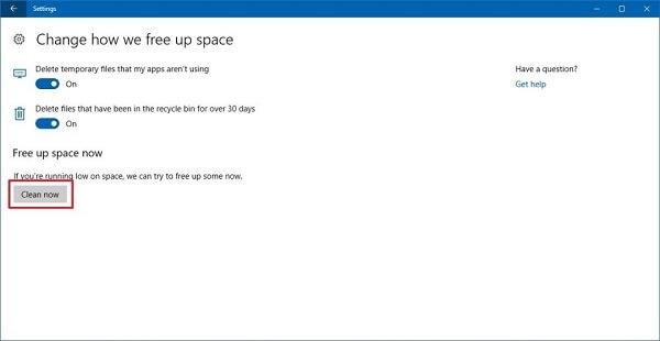 Free Up Storage Space