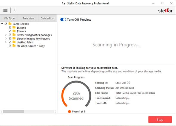 Stellar free data recovery for windows