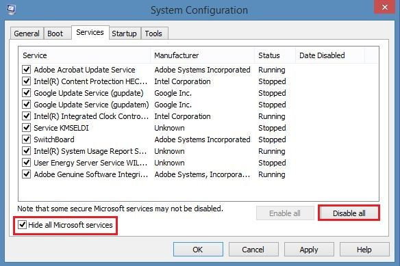 go to Services tab, check mark Hide all Microsoft services: kernel event ID 41 error