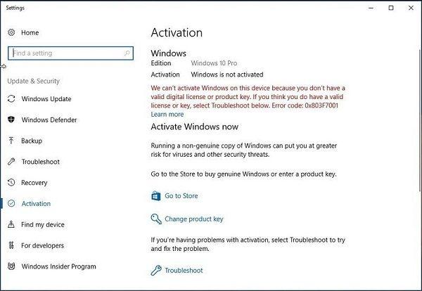 windows 10 november 2019 update activation problems