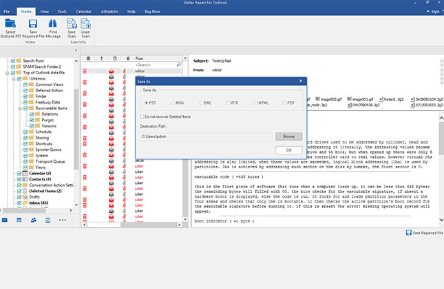 microsoft outlook pst repair tool