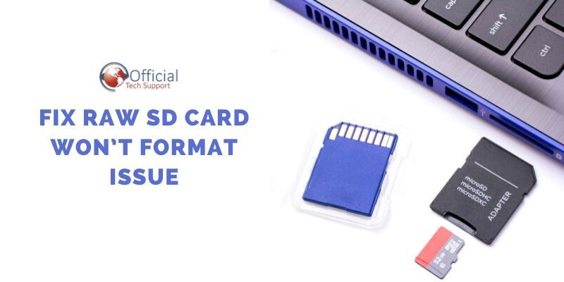Fix RAW SD Card Won't Format Issue