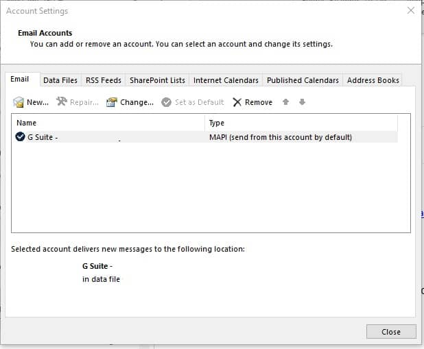 Delete Duplicate Accounts - 0x800ccc0e Outlook 2013
