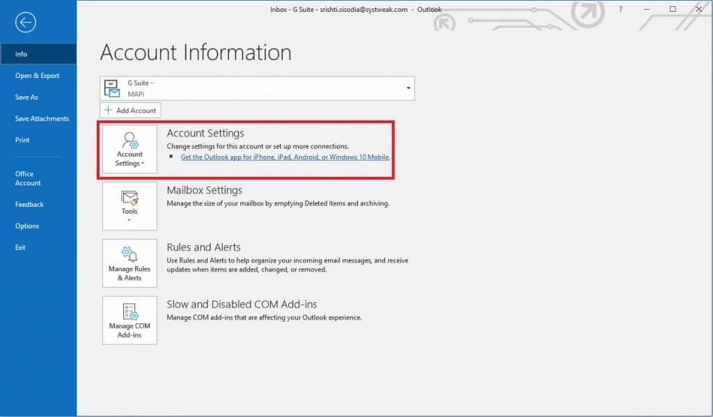 Delete Duplicate Accounts - Outlook Error 0x800ccc0e Gmail