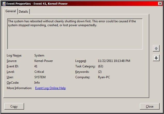 Fix Windows Kernel event ID 41 error