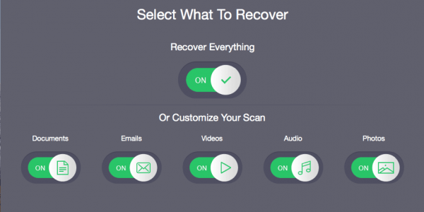 Select the data types which is to get recovered or you can customize the scan accordingly. Press Next.